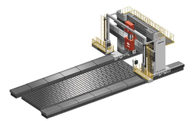 新瑞-数控动梁龙门移动式镗铣床