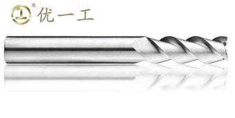 3刃長柄平頭立銑刀