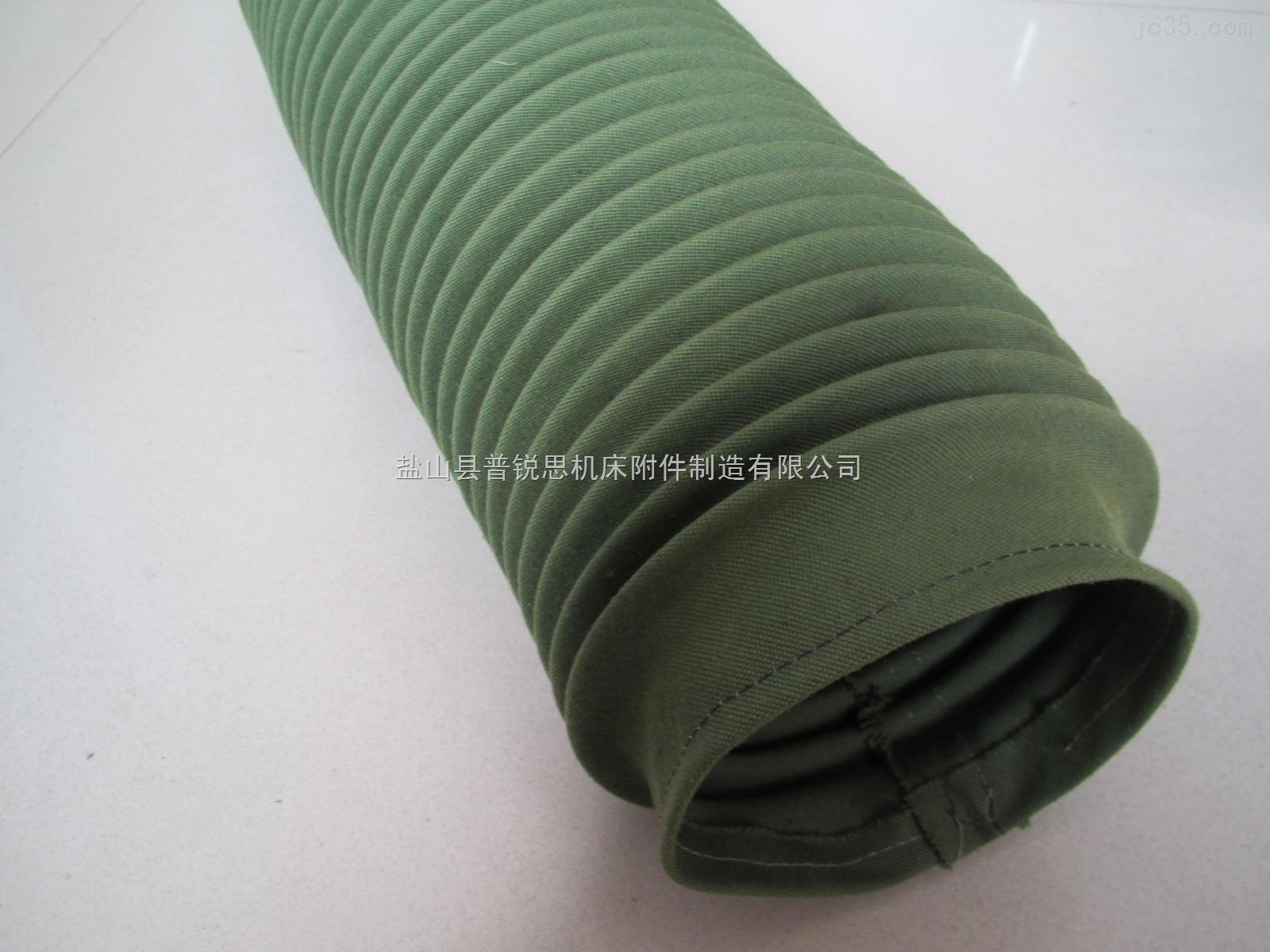 军绿色帆布软连接【材质一流】