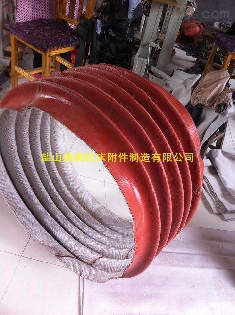 红色硅胶布抗老化风机软连接
