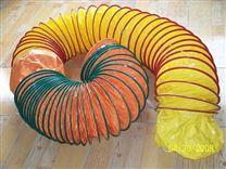 红色高温风管耐300度矽硅胶管/ 帆布拉伸钢丝软管