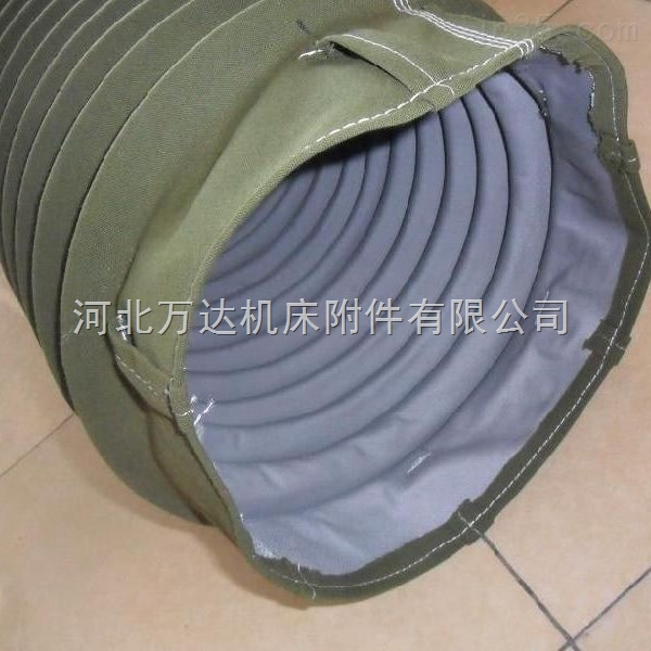 耐高温防割风机伸缩帆布软连接