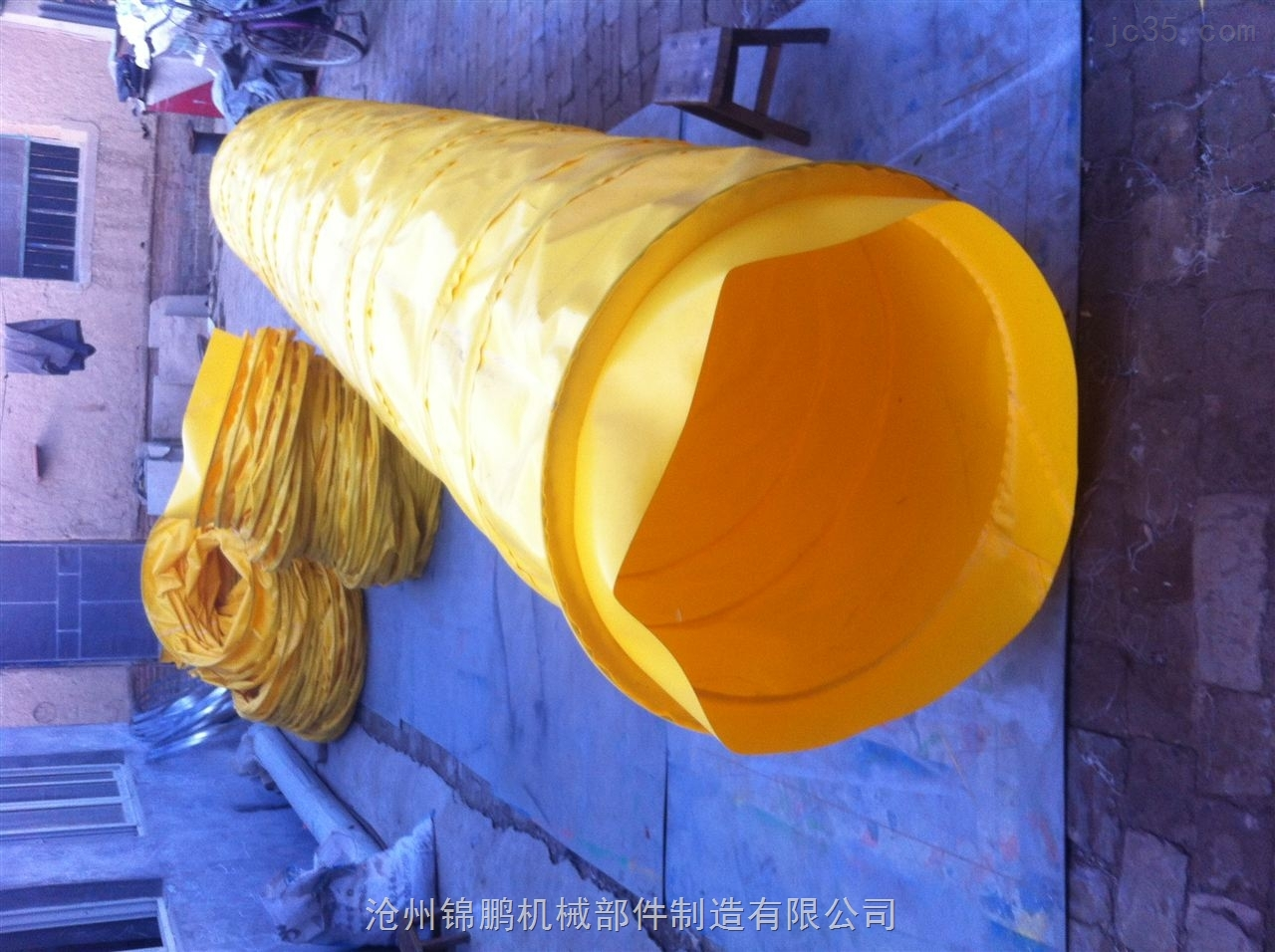 黄色耐磨通风软管价钱低廉