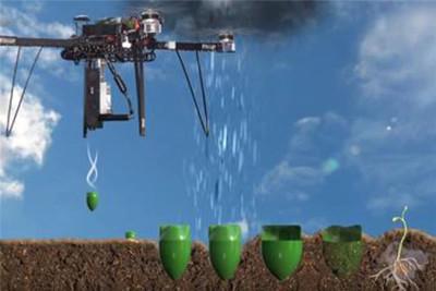 美国公司研发无人机播种技术 堪比向土壤中射子弹