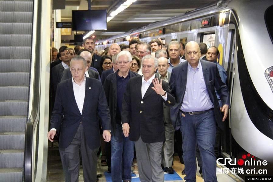 里约奥运好消息!中国制造地铁现已正式通车